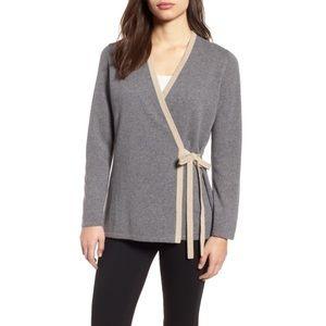 NWT! Eileen Fisher Grey Cashmere Wrap Sweater
